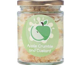 Apple Crumble and Custard Cake Jars