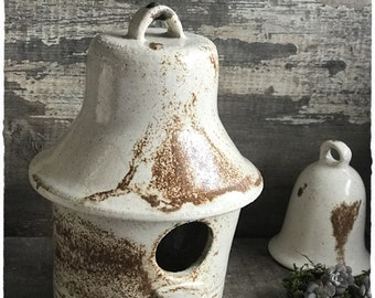 Birdhouse bird ceramic stoneware height 18 cm