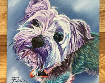Custom pet painting, custom pet portrait, dog painting, pet gift, pet loss, custom animal painting