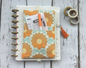 Ready to  ship, Fall Flowers Happy Planner pouch, planner organizer, daily planner pouch, zip bag, journal cover pouch, planner bag