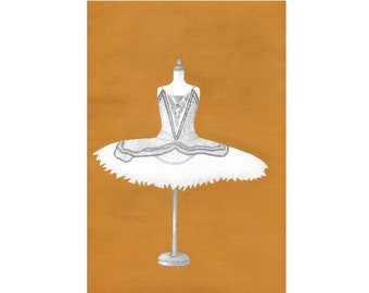 Dancer Silvia. Fine Art print Giclee 310gr from an original drawing made by me