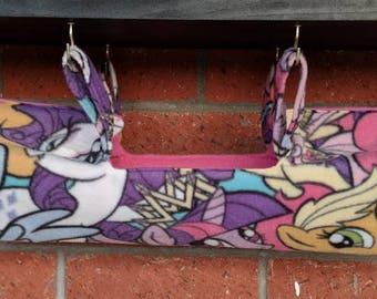 Ferret/rat/chinchilla/squirrel hammock tube. My Little Pony!