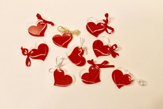 Hearts for Crafts Laser Cut Mini Mirror Charms Party Decor Confetti Clear Acrylic Cabs Valentines Day Arts Garland Decorations Love Wedding
