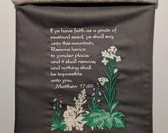 Wall Hanging Scroll Matthew 17:20 Mustard Seed