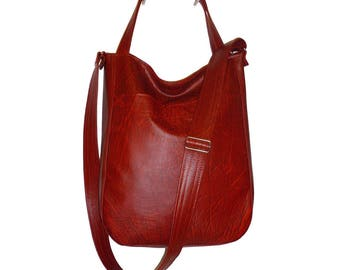 5528, vegan leather dark red crossbody bag, vegan leather dark red hobo bag, vegan leather crossbody red, red hobo crossbody, hobo dark red