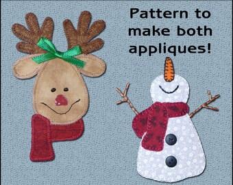 My Snowman Applique Pattern