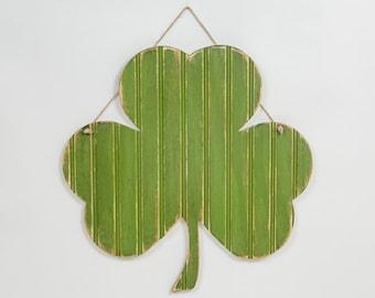 Wooden Shamrock Irish Hanging Decor - St. Patricks Day