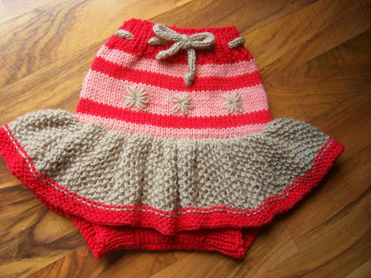 Hand Knitted Wool Cloth Diaper Cover Skirt Soaker Wool Nappy