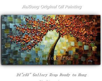 Original handpainted Oil Painting On Canvas Palette Knife Flowers Painting Modern Home Decor Painting Canvas Wall Art Abstract Painting