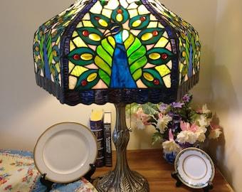 Peacock Lamp   Etsy