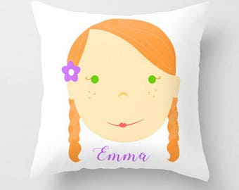 Custom Portrait Pillow : GIRL - #Personalized #Pillow