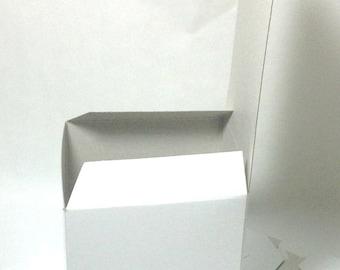 PLAIN 3X3X3 White Gift BOX set of 5- 3x3x3 Gift Box- 3x3x3 Favor Box