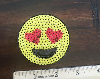 Love struck Emoji ready to ship sequin patch