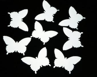 """25 paper butterflies/ White color/ scrapbook embellishments / size 2.25"""" x 1.5"""""""