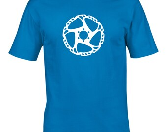 Mens Disc Brake Rotor Cycling Tshirt, Men's T-Shirt, Mountain Biking, Bicycle, Retro, Tour de France, Cycling Clothing, NEW