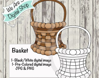 We Are 3 Digital Shop, Basket, Digital Stamp, Spring, Easter, Fall