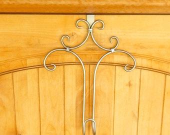 WREATH HANGER-Door Hanger-Door Wreath Hanger-Rustic Home Decor-Custom Colors-Choose Your Color  sc 1 st  Etsy & WREATH HANGER-Door Hanger-Door Wreath Hanger-Custom Wreath