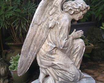Elegant Rare Antique 1800u0027s Cemetary Angel Statue