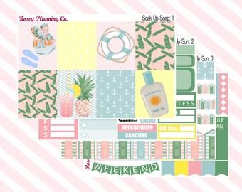 Soak Up Sun **Mini Weekly Planner Sticker Kit** (150 Stickers)