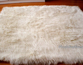 Sheepskin Faux Fur Rugs Flokati Luxury Shaggy Home Decor