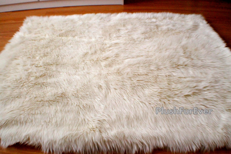 Premium Faux Fur Sheepskin Rug Fake Fur Living Room Area