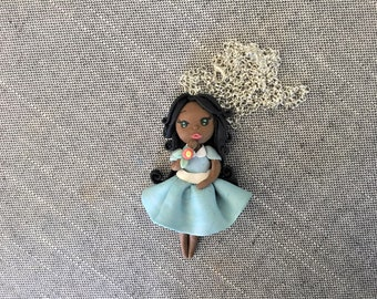 Doll polymer clay, necklace