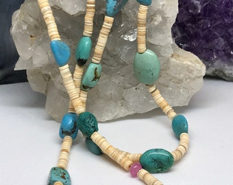 Turquoise and Heishi necklace