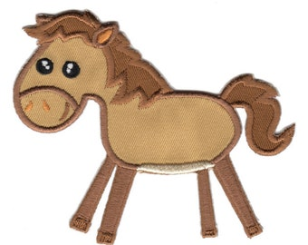Brown Horse Iron-On Patch Applique - Kids / Baby
