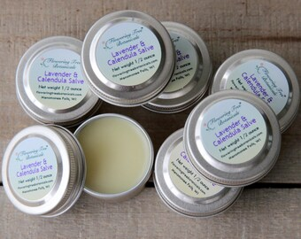 Lavender and Calendula Soothing Salve - 1/2 Ounce