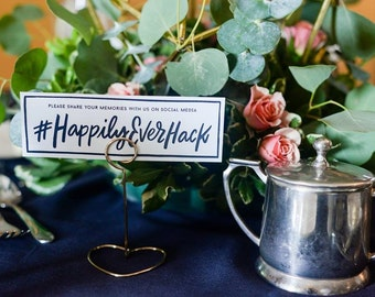 Small Table Hashtag Signs | Weddings, Bridal Showers, Hashtags