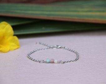 minimal amazonite bracelet