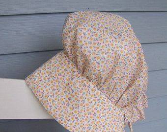 Prairie Bonnet pdf pattern and tutorial  sizes 7 to 11 years Young Girls Instant e-file download