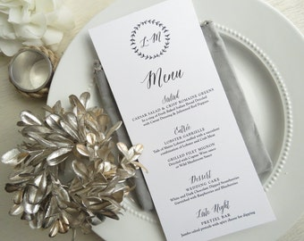 Wedding Menu   reception menu   dinner menu   table menu    - Style 20 - BRANCHES COLLECTION