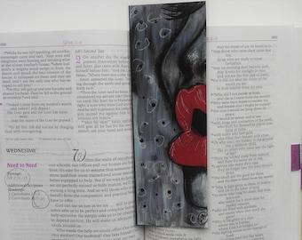 Speak Bookmark/ Hand painted Bookmark/ God's Word Bookmark/Red Lips Bookmark