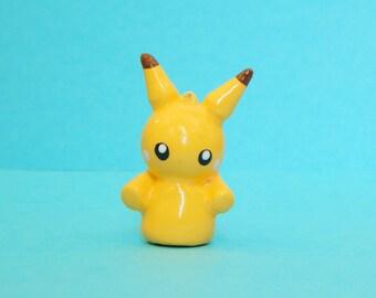 Pikachu Polymer Clay Charm - Polymer Clay Pikachu - Pikachu Keychain - Pokemon Charm - Pokemon Keychain - Kawaii Polymer Clay - Cute Pikachu