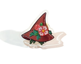 Floral Witch hat 【ACRYLIC PIN】