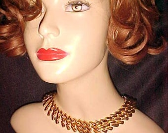 Vintage NAPIER Necklace Golden 40 Interlock Links Casual/ Dressy Expensive When New Mabet never Worn CLASSY&BARGAIN