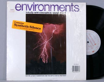 Environments Disc 4 - Ultimate Thunderstorm / Gentle Rain In A Pine Forest - Vintage Vinyl Record Album Nature Sounds