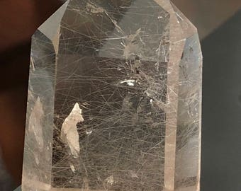 Rutilated Quartz  rutile point item 805