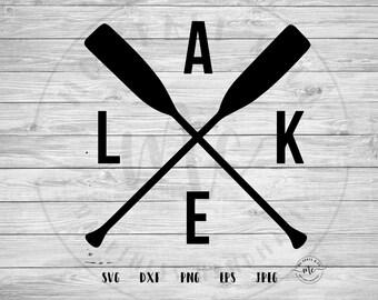 Crossed Paddles svg, Paddles svg, Lake House svg, Lake svg, Lake Cut Files, Lake Life, Cricut, oars svg, lake, Cut File, svg, dxf, png, jpeg