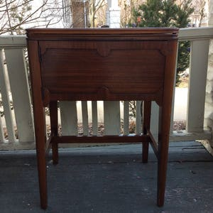 Vintage Free Westinghouse Sewing Machine in Beautiful Walnut Cabinet