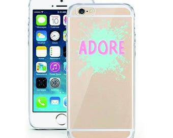 Adore Watercolor Cover transparent TPU cartoon comic smartphone case m2 adore