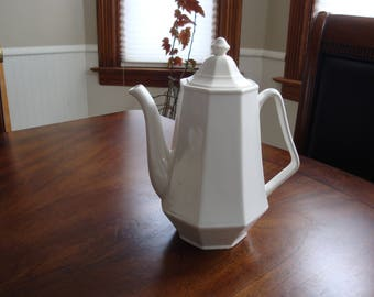 Homer Laughlin White Colonial Ironstone Coffee Pot!