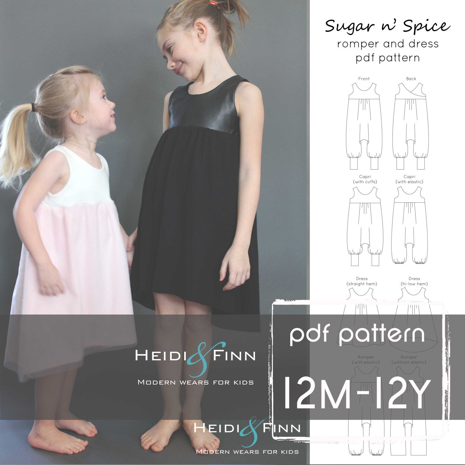 Sugar n\' Spice romper and dress PDF pattern and tutorial