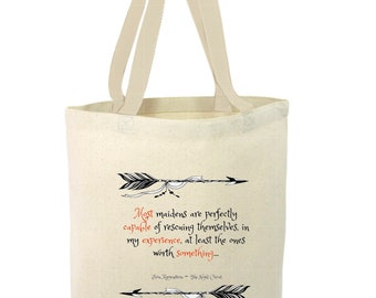 Heavy Duty Canvas Tote Bag - The Night Circus,Maidens Rescue Themselves Tote Bag, Beach Tote Bag,The Toad's Totes,Reusable Tote, Project Bag