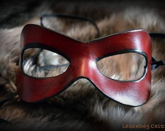 Molded leather mask Super Hero