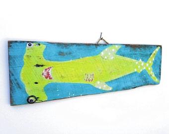 Personalize This Original Art Item-Shark Decor Beach Art Shark Kids Room Beach Decor Shark Nursery Shark Art Mangoseed