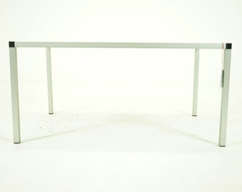 307-018 SALE! Danish Mid Century Modern Rosewood Aluminum Coffee Table