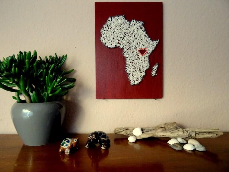 Africa Wall Decal String Art African Art Office Decor