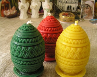 beeswax candles, beeswax eggs, eggs candles, Easter eggs, Easter candles, catholic gifts